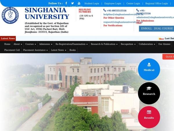 singhaniauniversity.co.in